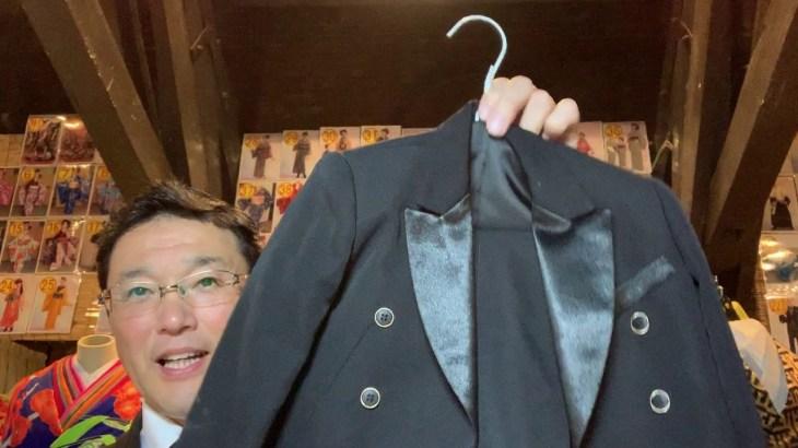 北海道 函館旅行 いとこ同士で衣装体験 リトルプリンスの衣装 3才用の黒のタキシード