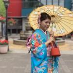 北海道 函館旅行 きもの体験 素敵な中国人の女性