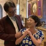 北海道 函館旅行 ドレス体験 久しぶりに見つめ合って、ちょっと照れました〜!