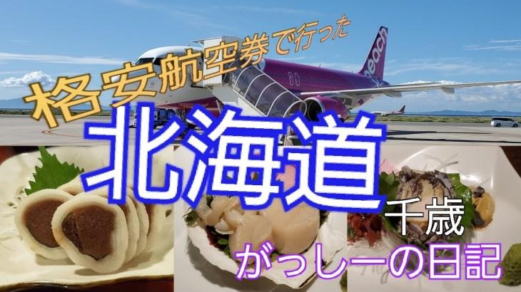 格安航空チケット(peach)で行った北海道旅行と海の幸 一日目