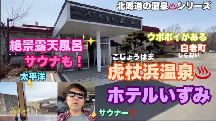 【北海道の温泉♨️】虎杖浜温泉ホテルいずみ。太平洋絶景露天風呂。ウポポイがある白老町。#461