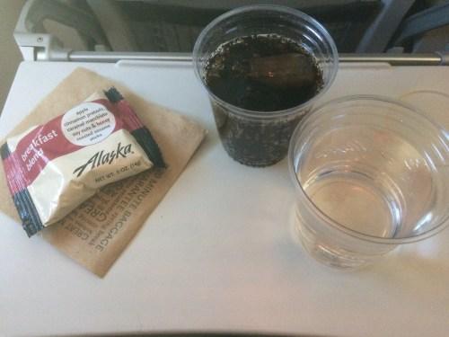 Alaska Airlines Frühstück