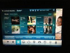Cathay Pacific Business Class Entertainment