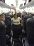 The aisle chair will replace your own wheelchair when you fly.
