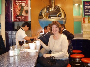 The Single Gourmet Traveller eating Clam Chowder in Boston, 2008