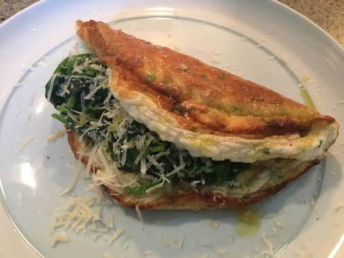 Souffle Omelette With Spinach Parmesan Chives Travel Gourmet