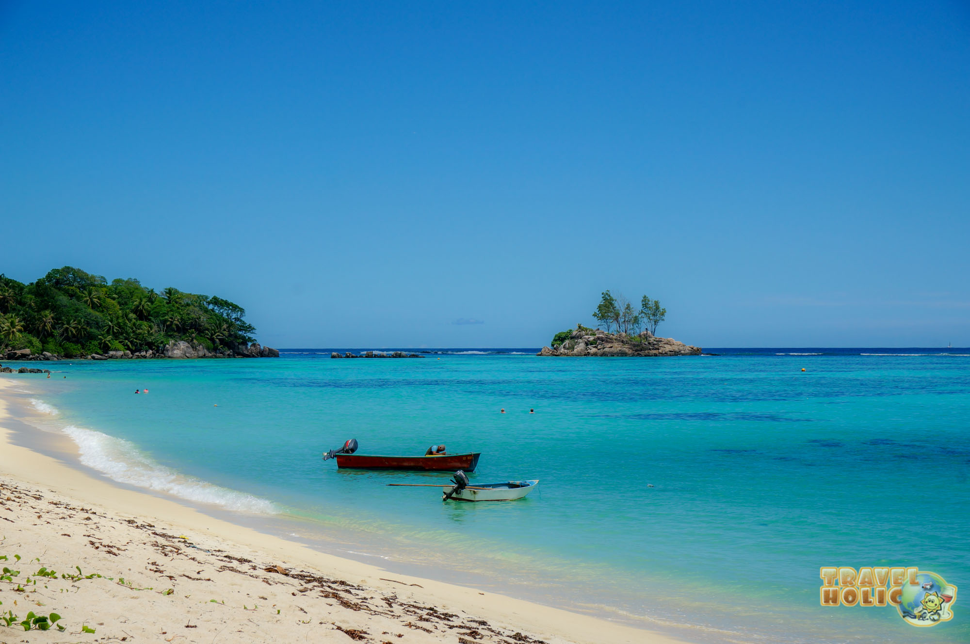 50 nuances de bleu sur l'île de Mahé aux Seychelles