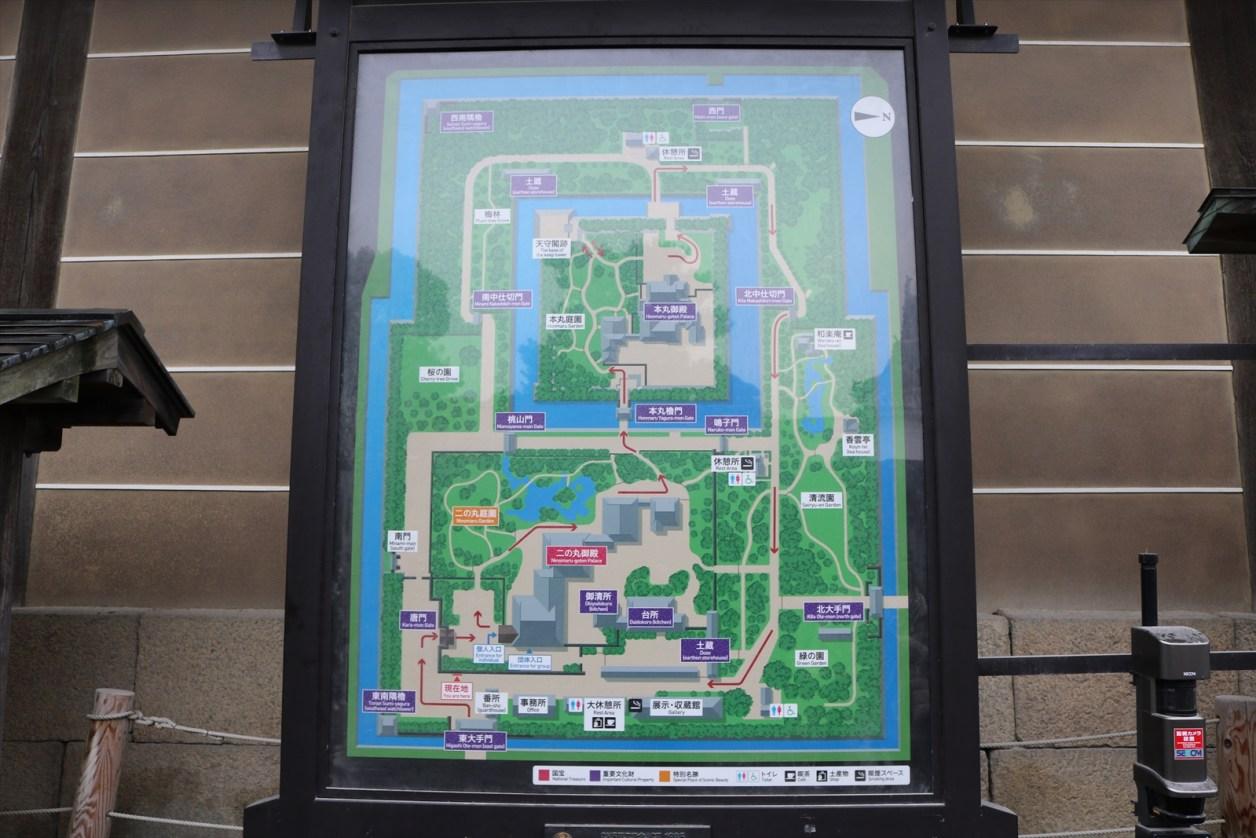 二条城 場内地図