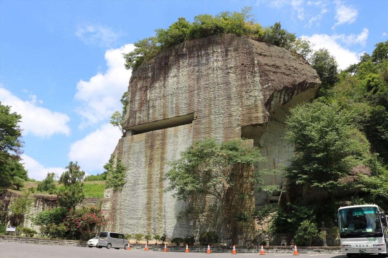 大谷資料館の岩山