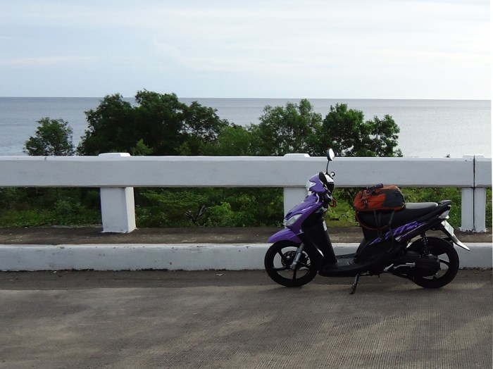 Motorbiking around this island of Camiguin, Philippines.