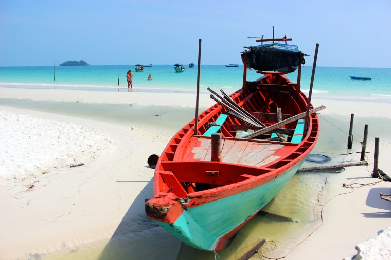 colorful boat and beach