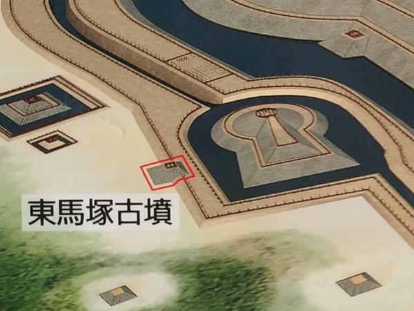東馬塚古墳の案内板拡大