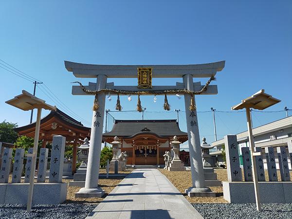 大堀八幡神社の鳥居