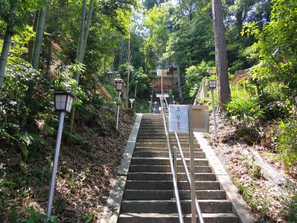 烏帽子形八幡神社の階段