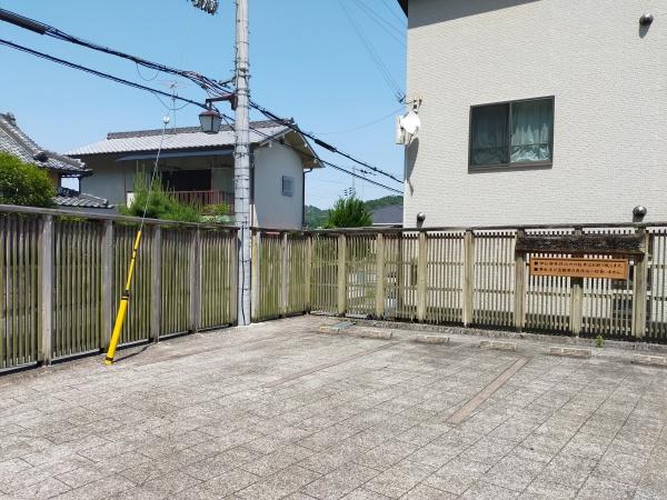 烏帽子形八幡神社の駐車場