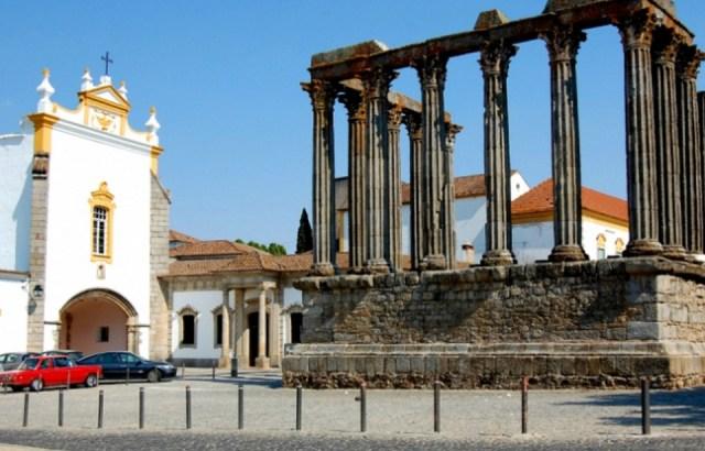 Исторический центр города Эвора.