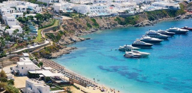 Пляж Псару, Миконос, Греция