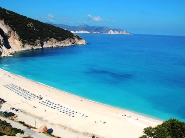 Пляж Миртос, Кефалония, Греция.