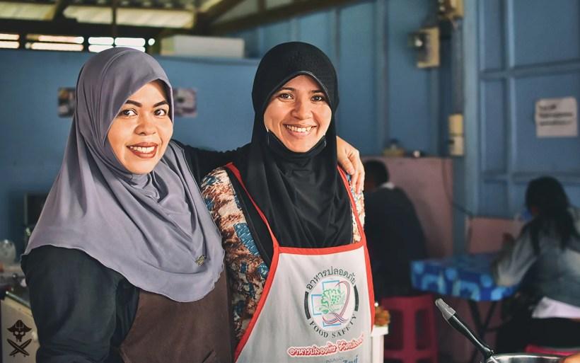 muslim sisters from roti restaurant in Rawai Thailand