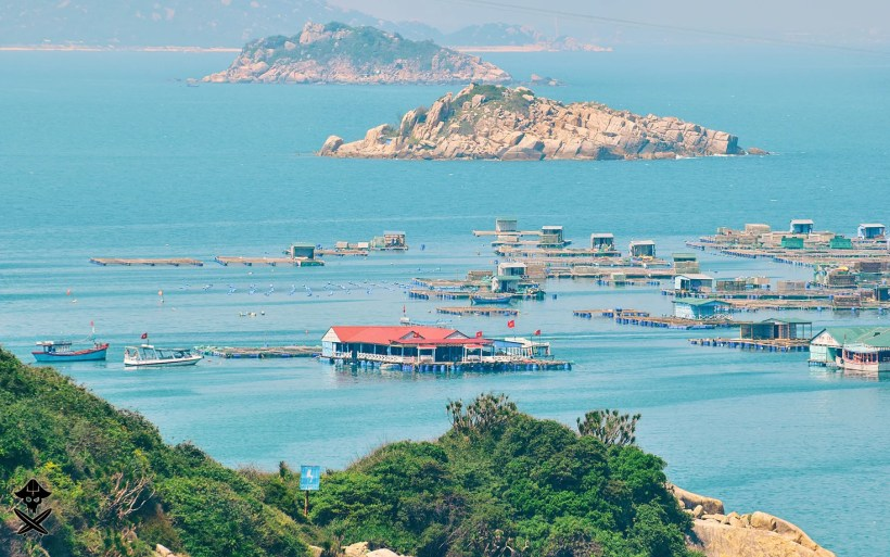 beautiful view at the islands and fishermen village at the south east chinese sea in vietnam
