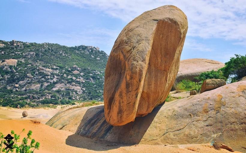 huge rock creating interesting formation