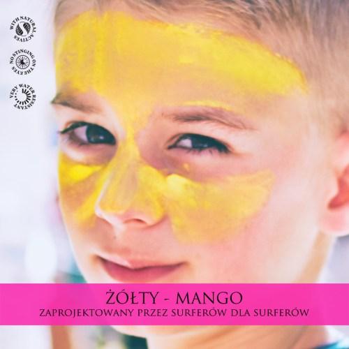 sun stick zinc żółty mango