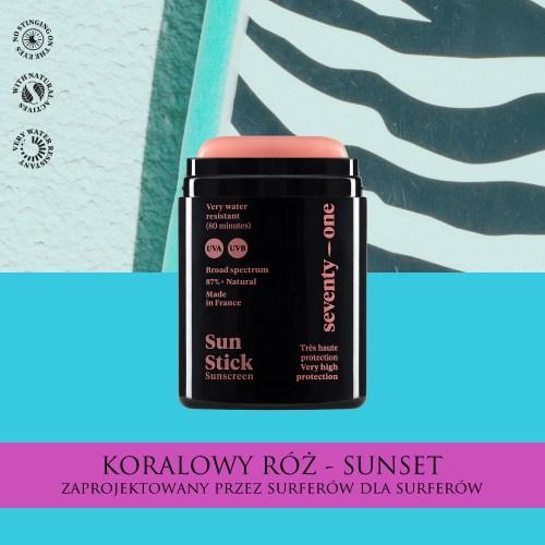 kolorowy krem przeciwsłoneczny dla surferów