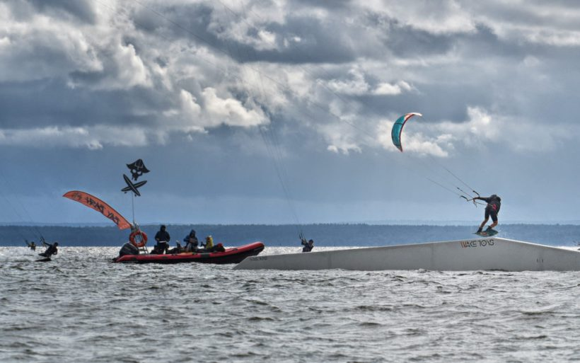 kiteboarder kite park competition hel poland