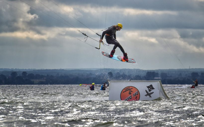 snowboarder freestyle champion kite park kiteboarding event flyn competition poland hel