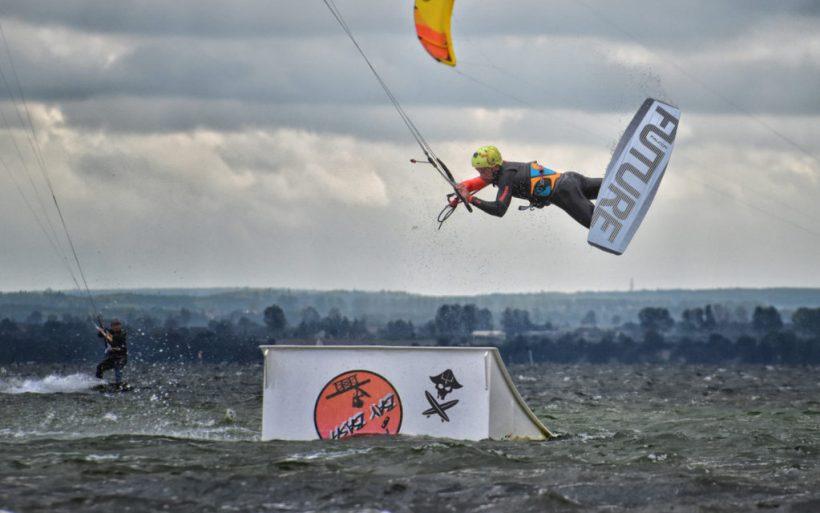 czech kiteboarder wakeboarder kite park kicker champion flyn chalupy hel