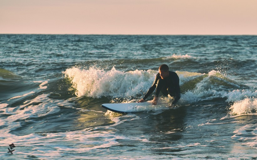 surfing in poland on baltic