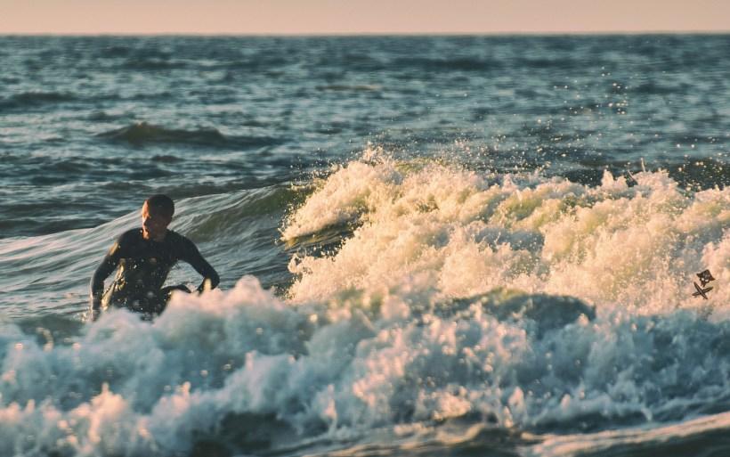 surfer on baltic sea
