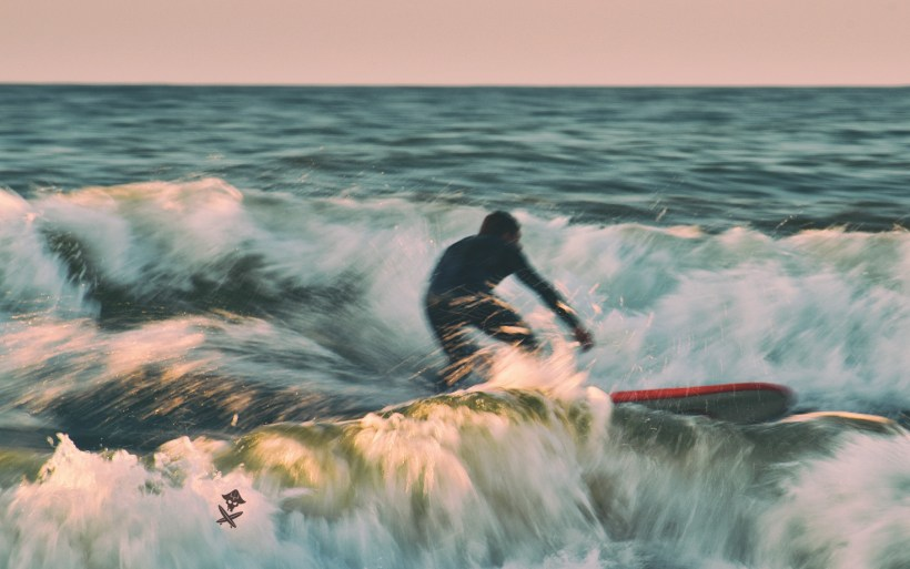 long exposure surf pictures baltic sea poland chalupy