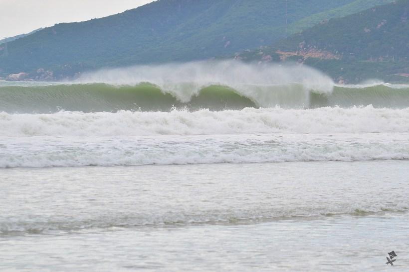 surfing big waves vietnam