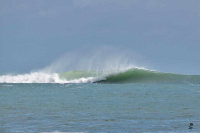 black virgin wave tube surfing wietnam