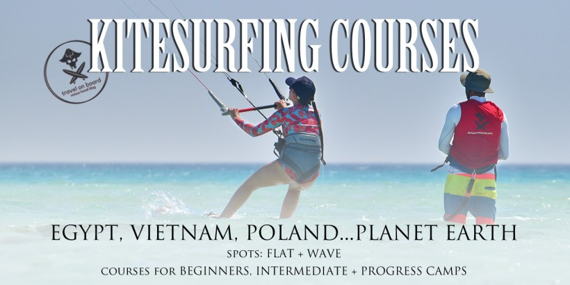 kitesurfing courses vietnam egypt poland worldwide