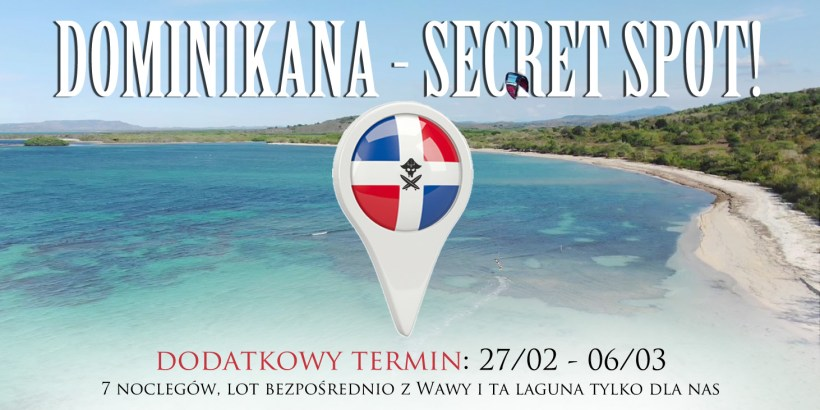 dominikana kite wyjazd secret spot