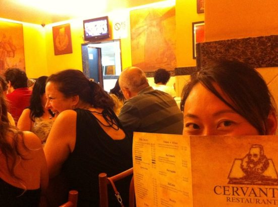 Ready to eat at Cervantes