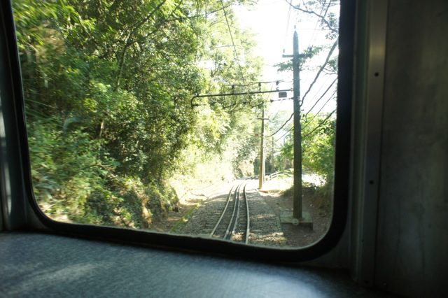 Winding through Tijuca Forest on the funicular train