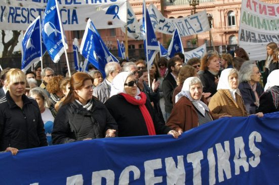 The Mothers protest once a week in Buenos Aires