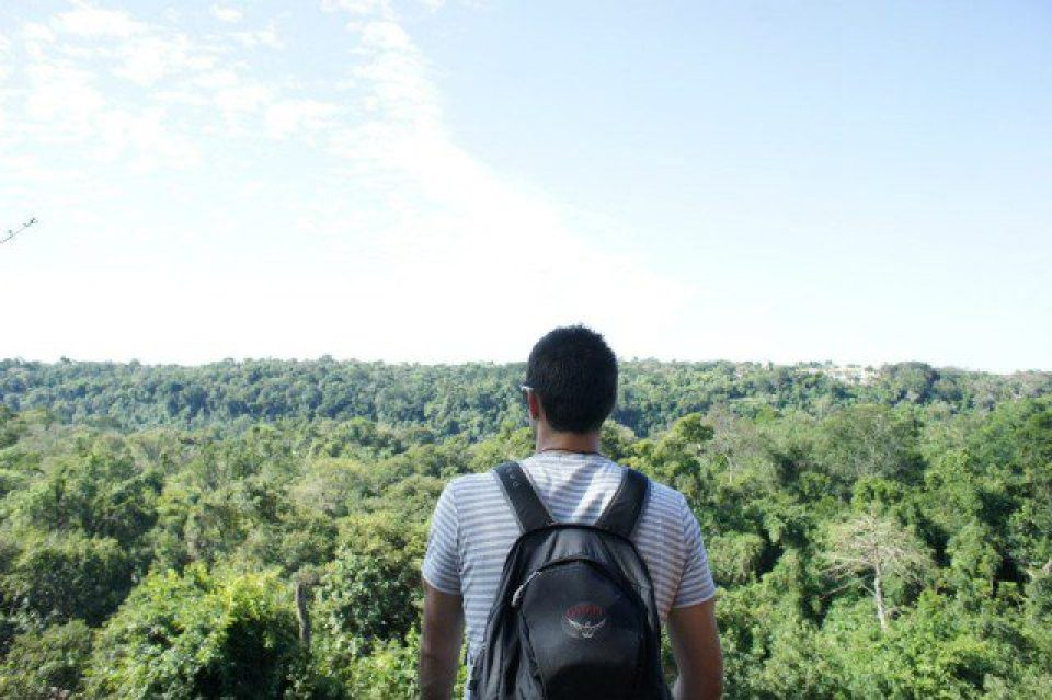 Looking out over Iguazu National Park