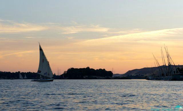 A felucca at sail