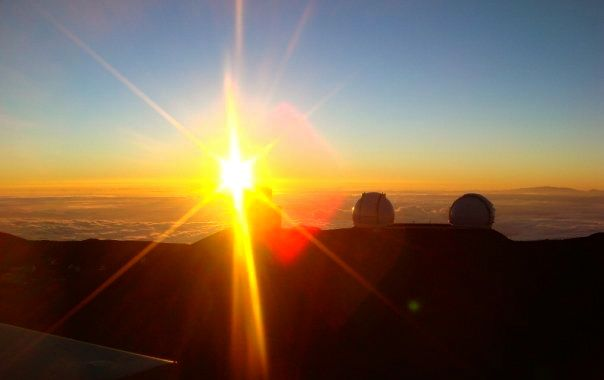 4,200 metres above sea level at Mauna Kea's summit. The air was breathtakingly clear.