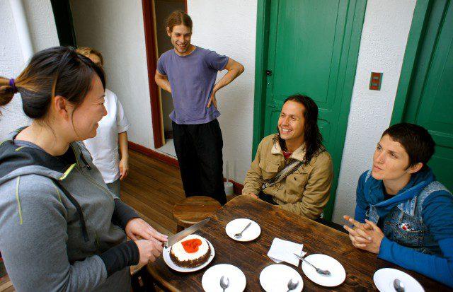 Celebrating a birthday in Bogota