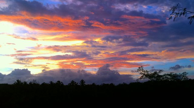 Stunning Bali sunset