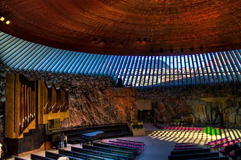 Temppeliaukio Church (Wikimedia Photo)