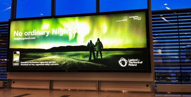You might see this...but probably not - marketing in Ivalo Airport.