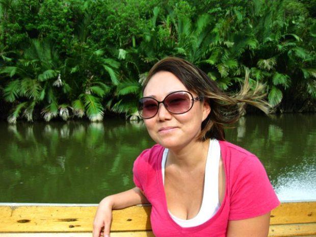 In a longboat, on the Brunei River, searching for Proboscis Monkeys