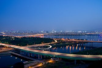 """""""Seoul at Evening,"""" by Vincent Lee, CC Attribution"""