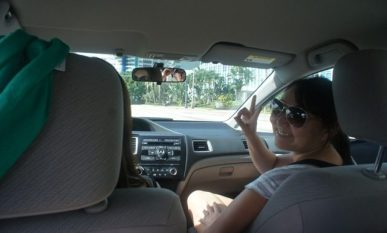 Nice and cool inside the car